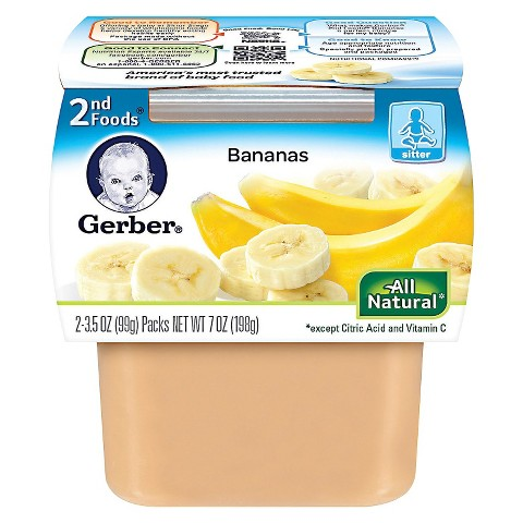 Gerber 2nd Foods Bananas - 7.0 oz. (8 Pack)
