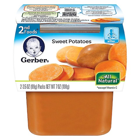 Gerber 2nd Foods Sweet Potatoes - 7.0 oz. (8 Pack)
