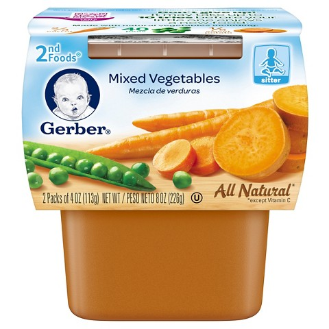 Gerber 2nd Foods Mixed Vegetables - 7.0 oz. (8 Pack)