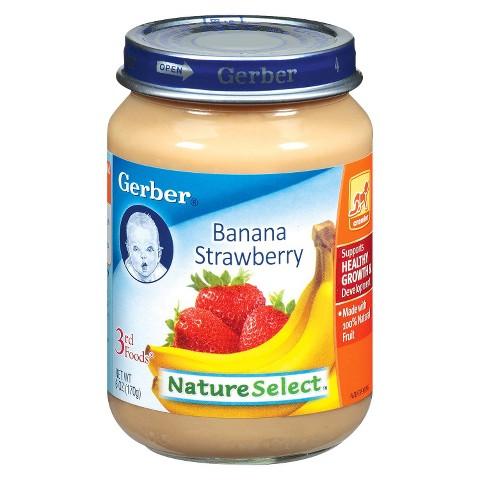 Gerber 3rd Foods Banana Strawberry - 6.0 oz. (12 Pack)