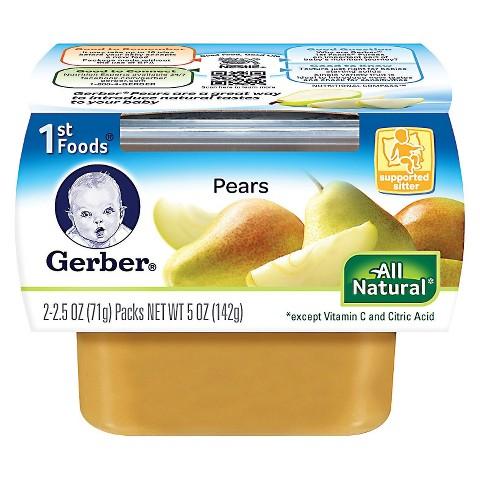 Gerber 1st Foods Pears - 5.0 oz. (8 Pack)