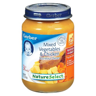 Gerber 3rd Foods Vegetable Chicken Dinner - 6.0 oz. (12 Pack)