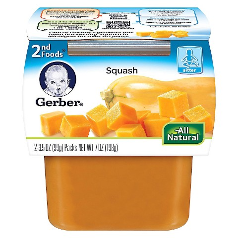 Gerber 2nd Foods Squash - 7.0 oz. (8 Pack)