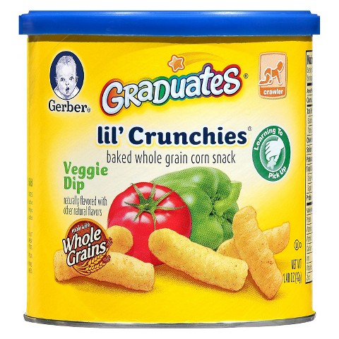 Gerber Graduates Lil' Crunchies Veggie Dip  - 1.48 oz. (6 Pack)