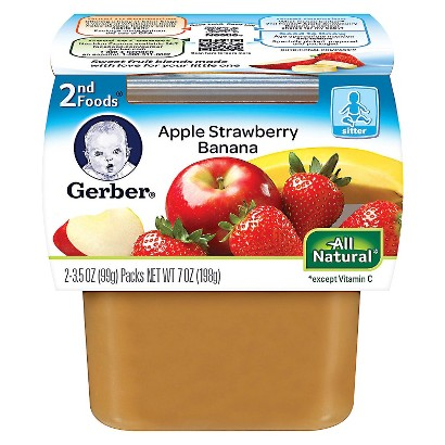 Gerber 2nd Foods Apple Strawberry Banana - 7.0 oz. (8 Pack)