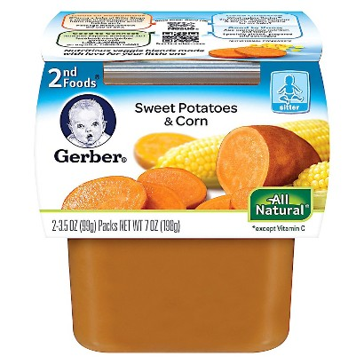 Gerber 2nd Foods Sweet Potatoes & Corn Baby Food 7 oz. (8 pack)
