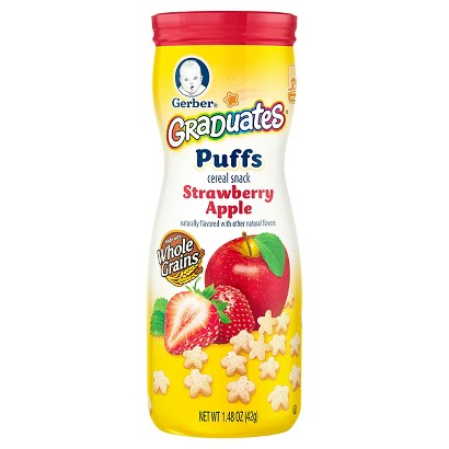 Gerber Graduates Puffs Strawberry Apple - 1.48 oz. (6 Pack)