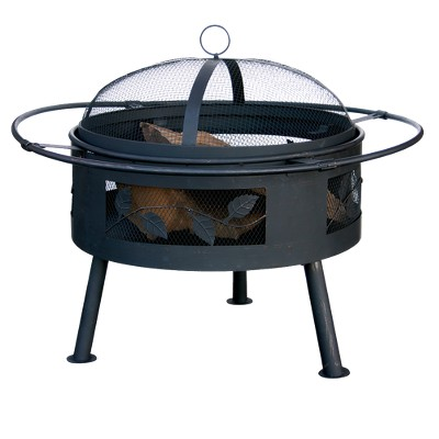 Leaf Cut-out Design Fire Pit