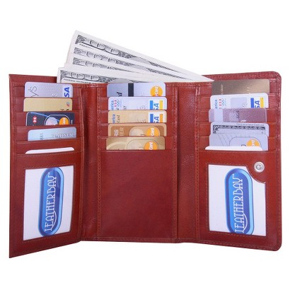 Women's Leatherbay Elegant Shopping Wallet - Cognac
