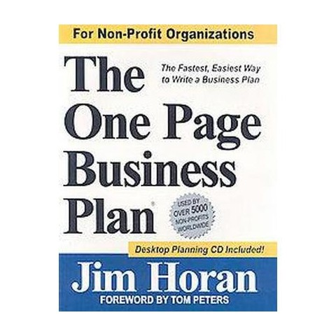 The One Page Business Plan (Mixed media product)