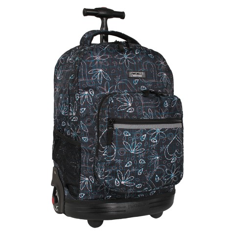 J World Sunrise Rolling Backpack - Love Black