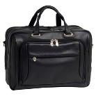 McKleinUSA West Loop Expandable Double Compartment Briefcase - Black (17