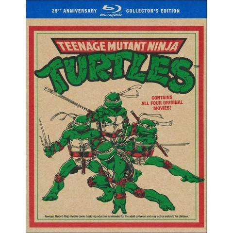 Teenage Mutant Ninja Turtles Film Collection (25th Anniversary Gift Set) (4 Discs) (Blu-ray) (Widescreen)