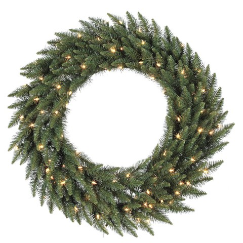 "Pre-Lit Camdon Fir Wreath - Clear Lights (72"")"