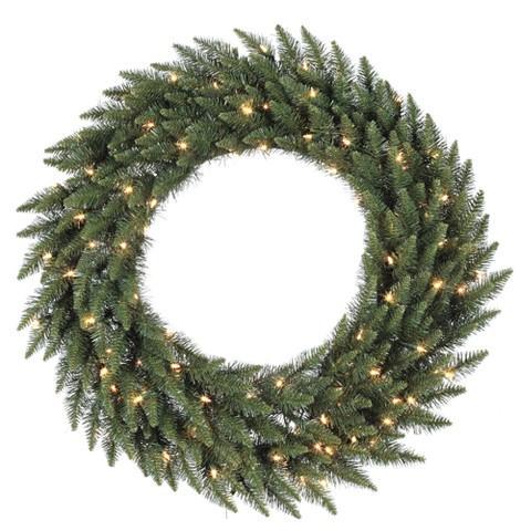 """Pre-Lit Camdon Fir Wreath - Clear Lights (48"""")"""