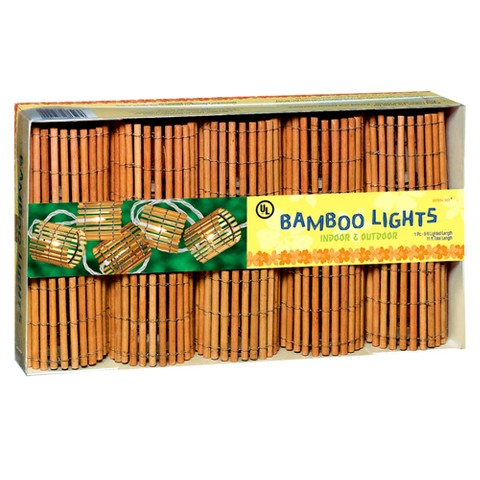 "11"" Bamboo Barrel Light Set (10 Lights)"