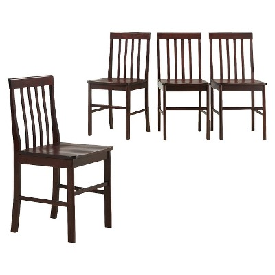 Dining Chair Solid Wood - Espresso (Set of 4) - Walker Edison