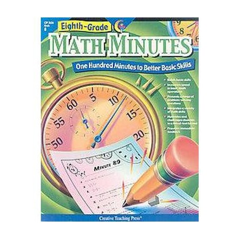 Eighth-Grade Math Minutes (Paperback)
