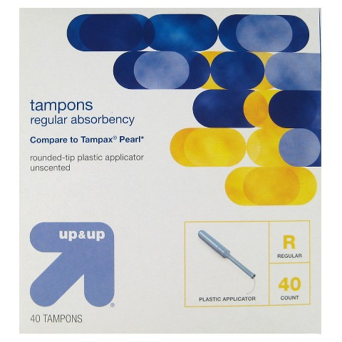 up & up™ Tampons Regular Absorbency Plastic - 40 Count