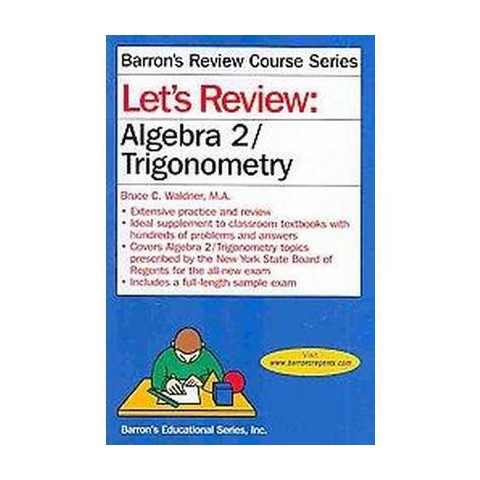 Let's Review Algebra 2/Trigonometry ( Let's Review Series) (Paperback)