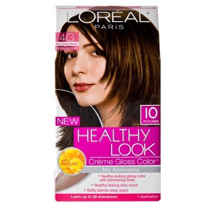 L'Oreal® Paris Healthy Look Creme Gloss Color 4G Dark Golden Brown