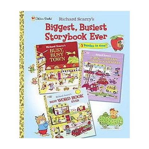 Richard Scarry's Biggest, Busiest Storybook Ever (Hardcover)