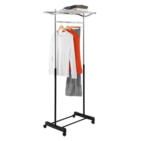 Honey-Can-Do Garment Rack with Top Shelf