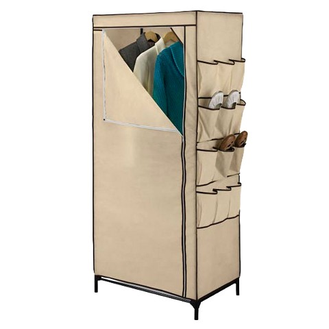 "Honey-Can-Do 27"" Portable Storage Closet with Shoe Organizer"