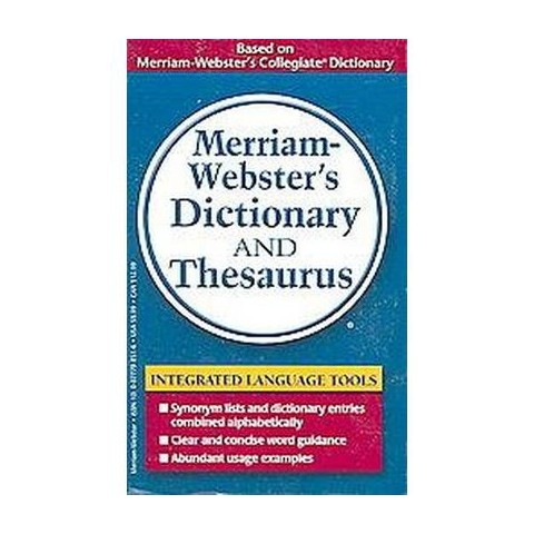 Merriam-webster's Dictionary And Thesaur (Paperback)