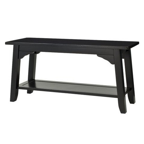 Antique Black Cottage Bench Black