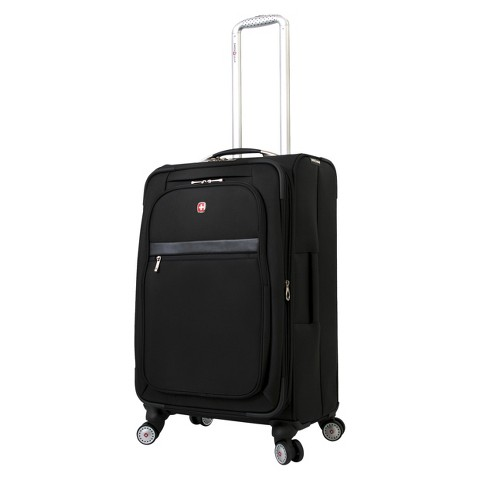 "SwissGear Geneva II Upright Spinner 24"" Black"