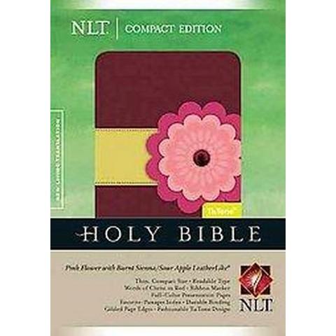 Holy Bible (New Living Translation, Pink Flower/Burnt Sienna/Sour Apple, TuTone) (Paperback)