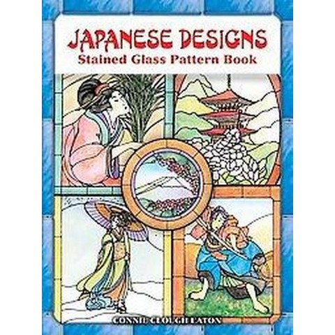 Japanese Designs Stained Glass Pattern Book (Paperback)