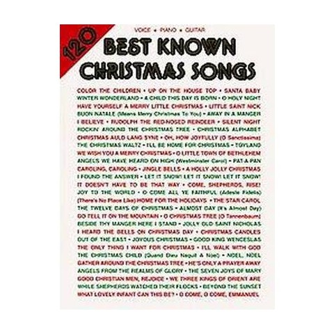 120 Best Known Christmas Songs (Paperback)