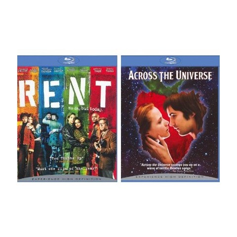 Rent/Across the Universe Blu-Ray - 2 Pack