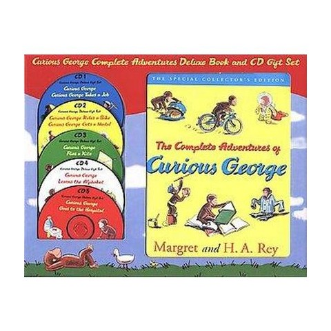 Curious George the Complete Adventures Deluxe Book and Cd Gift Set (Unabridged) (Mixed media product)