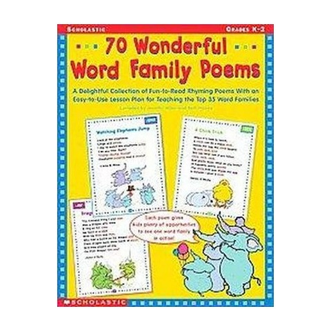 70 Wonderful Word Family Poems (Paperback)