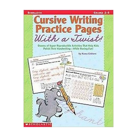 Cursive Writing Practice Pages With a Twist (Paperback)