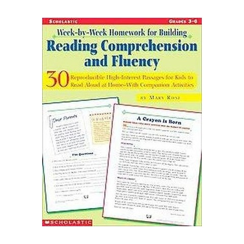 Week-By-Week Homework for Building Reading Comprehension and Fluency (Paperback)