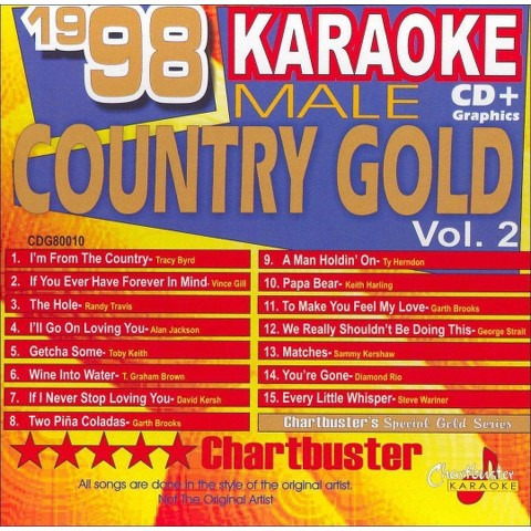 Chartbuster Karaoke: 1998 Male Country Gold, Vol. 2
