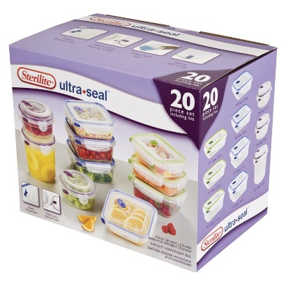 Sterilite 03068602 Ultra Seal Food Storage Set