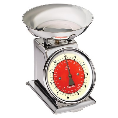 Taylor 11lb Stainless Steel Retro Style Food Scale