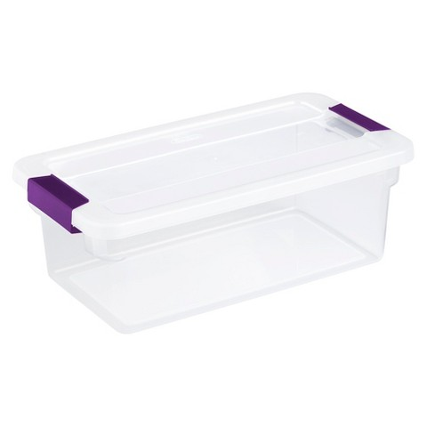 Sterilite ClearView 6Qt Bin - Purple