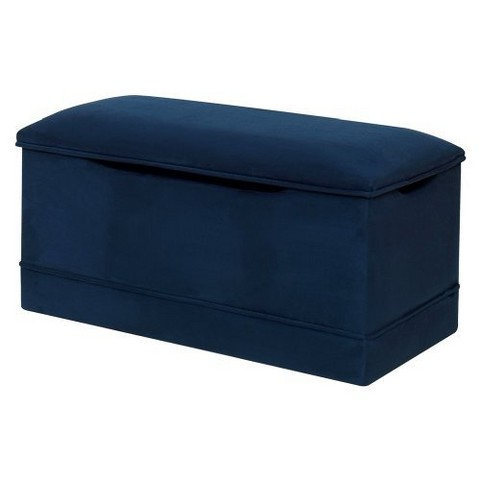 Deluxe Toy Box - Navy Blue