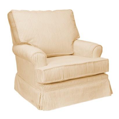 Square Back Cushion Swivel Glider - Tan