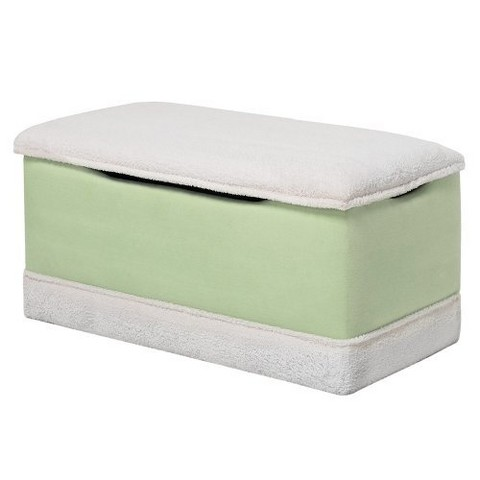 Deluxe Toy Box - Lime and White