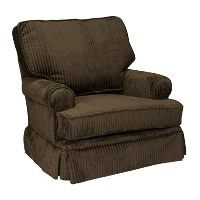 Square Back Cushion Swivel Glider - Chocolate