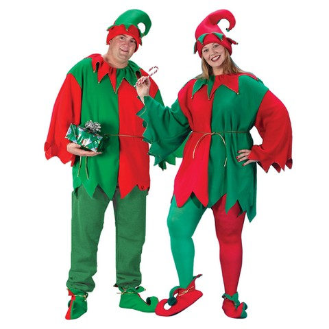 Adult Elf Tunic, Hat and Shoe Set Costume OSFM