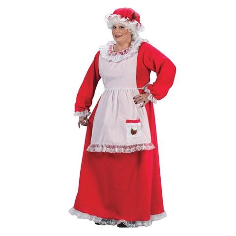 Women's Mrs. Claus Costume Plus Size