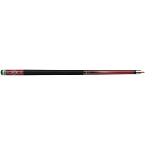 "Mizerak P0385 2-Piece Maple Competition Billiard Cue with Nylon Wrap - Black (58"")"